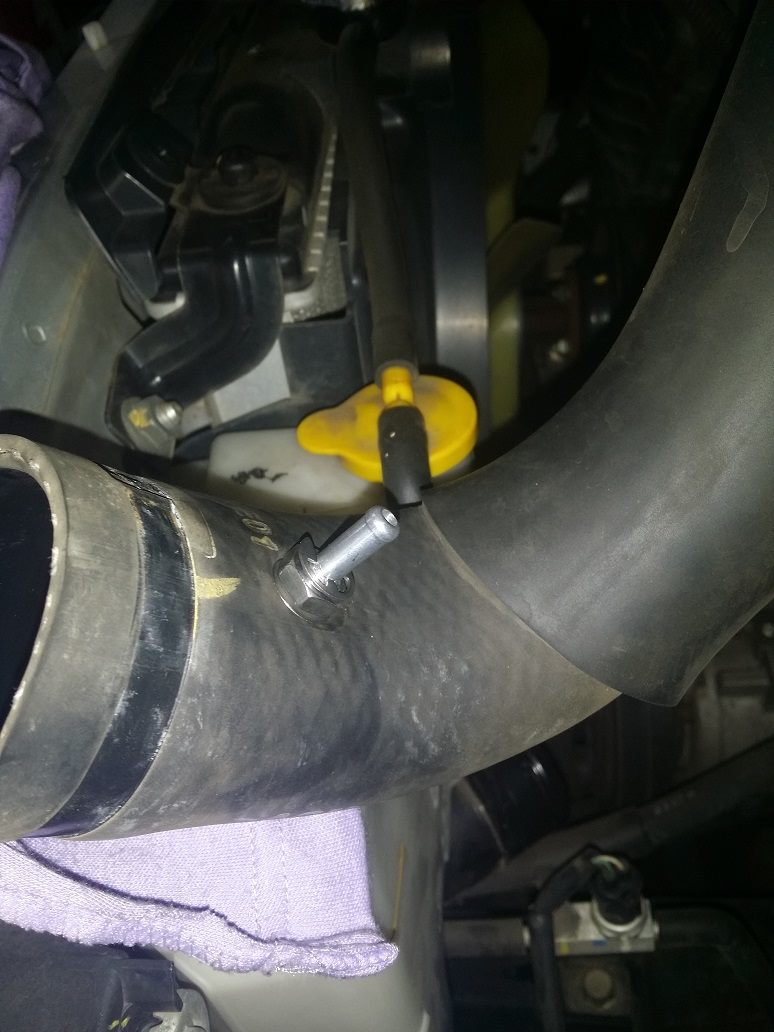 Boost adaptor fitted to Mazda BT50